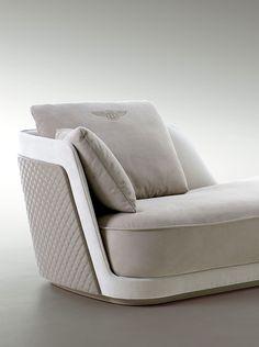 Richmond chaise longue detail for Bentley Home www.luxurylivinggroup.com #Bentley #LuxuryLivingGroup