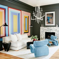 LAURIE BLUMENFELD-RUSSO (@laurieblumenfelddesign) • Instagram photos and videos Cheap Home Decor, Diy Home Decor, Room Decor, Wall Colors, House Colors, Color Walls, Paint Colors, Modern Furniture, Furniture Design