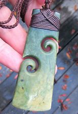 NZ POUNAMU GREENSTONE FLOWER JADE MAORI BOUND TWIN KORU HEI TOKI NATHAN JERRY Ceramic Jewelry, Wooden Jewelry, Polymer Clay Jewelry, Fish Hook Necklace, New Zealand Jewellery, Soapstone Carving, Jade Pendant, Pendant Jewelry, Beads Pictures