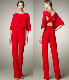 Valentino's Resort 2012 - The Cross Back JumpSuit - Just Imagine entering the Coral Grill and the room goes silent.  Stunning.