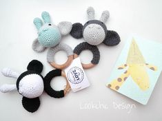 Customized Giraffe rattles are ready for little babyboys. I am totally fall in love.And you? If you interest write me or visit my eshop…