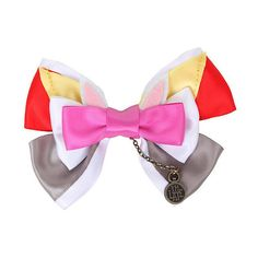 Disney Alice In Wonderland White Rabbit Cosplay Hair Bow Hot Topic ($8.50) ❤ liked on Polyvore featuring accessories, hair accessories, bow, disney, hair, bow hair accessories, disney hair bows, disney hair accessories and hair bow
