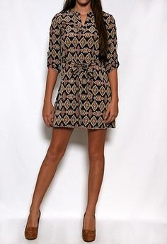 Printed Dress with Waist Tie #PrivateGallery #PGWishList