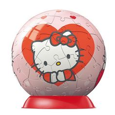 Ravensburger - Jigsaw Puzzle - 60 Pieces - Puzzleball - Hello Kitty : Heart - Jigsaw Puzzle Road