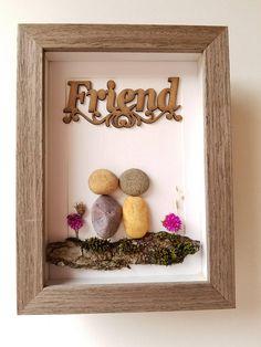 Unique Pebble Art Friendship Gift Rock Art Friend Gift For