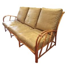 Shop living room sets and other antique and modern chairs and seating from the world's best furniture dealers. Bamboo Sofa, Rattan Sofa, Rattan Furniture, Wakefield, Screened In Porch, Living Room Sets, Lounge, Couch, Porch Ideas