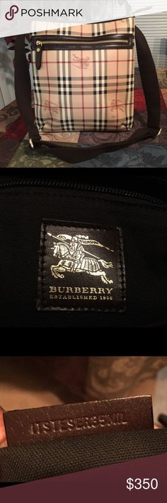 Burberry Crossbody Bag This bag is gently used and it's 100% authentic. It has a minor scratch mark and a small dark mark on the front of the bag, otherwise it is in great condition Burberry Bags Crossbody Bags