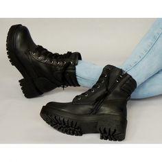 Dámske workery čiernej farby na zimu - fashionday.eu