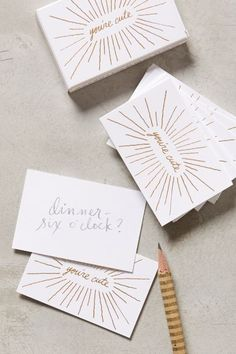 You're Cute Card Set / anthropologie.com