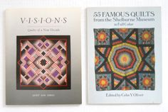 """2 BOOKS: """"Visions - Quilts Of A New Decade"""" — """"Shelburne Museum / 55 Famous Quilts"""" at T-World Design ► http://etsy.me/1DFdBUs"""