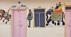 Post image for Exemplary miniature artwork in Rajasthan, India shows a wedding scene