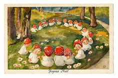 The Fairy Ring.sleep well and warm. Elsa Beskow, Art And Illustration, Fairy Ring, Elves And Fairies, Mushroom Art, Vintage Fairies, Love Fairy, Arte Pop, Flower Fairies