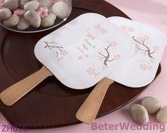 los flores de cereza de la novedad avientan con el uso de bambú de la manija Zh016 como recuerdo del regalo o del partido de boda o duchas nupciales