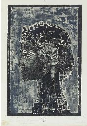 Figure in Profile, 1967. By Françoise Gilot (France, born 1921). Lithograph. Francoise Gilot, French Artists, Pablo Picasso, Profile, France, User Profile, French