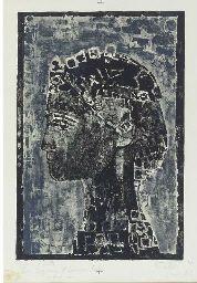 Figure in Profile, 1967. By Françoise Gilot (France, born 1921). Lithograph. Francoise Gilot, French Artists, Pablo Picasso, Profile, France, User Profile