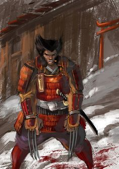 Wolverine Samurai A by IttoOgamy Comic Movies, Comic Book Characters, Marvel Characters, Comic Character, Comic Books Art, Comic Art, Marvel Comics, Hq Marvel, Marvel Heroes