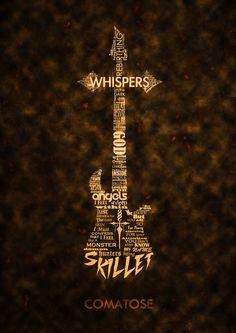 Skillet lyrics in the shape of a guitar that fades into a cross from the Comatose album...WHERE HAS THIS BEEN?!