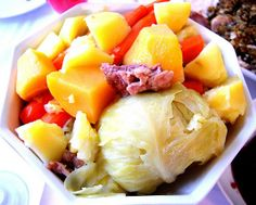 Jigs Dinner Newfoundland Recipes, Newfoundland And Labrador, Jigs Dinner, Cat Food, Fruit Salad, Main Dishes, Roots, Style, Main Courses