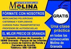 GRATIS una clase práctica en AUTOESCUELAS MOLINA ¡¡¡DALE LA VUELTA AL TICKET!!! del DIA% de C/ Poeta Manuel de Góngora.