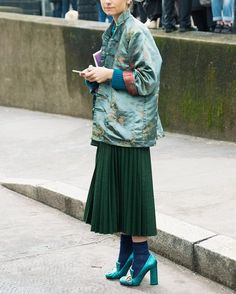 Shades of green on the streets of Milan.