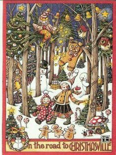 Christmas artwork by Mary Engelbreit ~