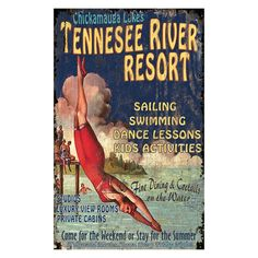 Tennessee River Wall Art - 15W x 26H in. - PP-1153