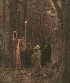 An old fashioned Witchcraft ritual.