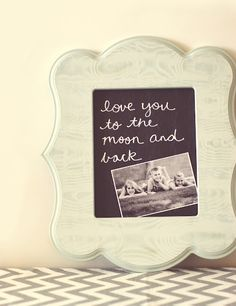 diy framed chalkboard {mother's day gift}