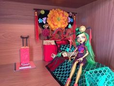 A Custom Bed For My Jinafire Long Doll [MONSTER HIGH]