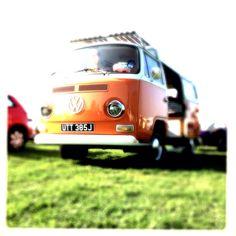 Burt the Camper Van out enjoying the Volksworld Show. (VW campervan)