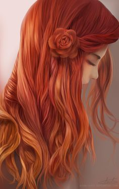 Only Redheads Here Redhead Art, Anime Redhead, Ginger Girls, Digital Art Girl, Mononoke, Anime Art Girl, Fantasy Girl, Illustration Girl, Portrait Art