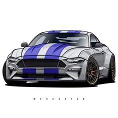 Image may contain: car Japanese Sports Cars, Japanese Cars, Cool Car Drawings, Street Racing Cars, Car Vector, Ford Classic Cars, Car Illustration, Tuner Cars, Ford Mustang