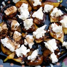 Goat Cheese Custards With Figs & Balsamic Syrup Recipe — Dishmaps