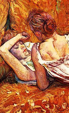 Henri de Toulouse-Lautrec - The Two Friends (detail), 1884/85