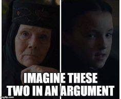 Imagen de game of thrones, olenna tyrell, and lyanna mormont