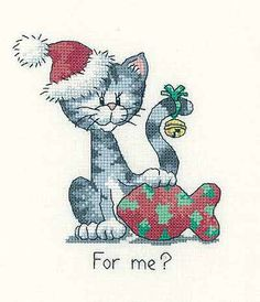 For Me? - Cats Rule! Cross Stitch Kit by Heritage Crafts