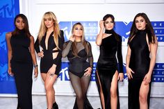 Fifth Harmony on the red carpet at the 2016 MTV Video Music Awards in New York, New York.