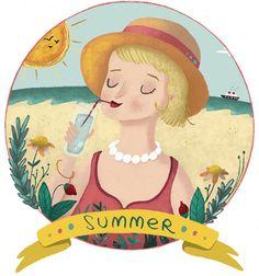 Laura Wood illustration Summer