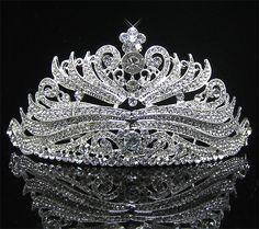 Jewelry Sets & More Bright Woodqiqi Bridal Headband Crystal Tiara Art Deco Jewelry Hochzeitskrone Flower Tiara Bride Pearl Crown Consumers First