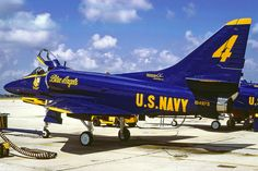 Vintage '78 Blue Angel A-4F Skyhawk.