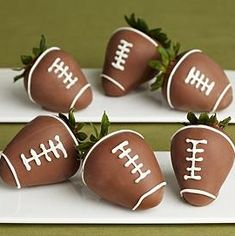 Super Bowl Snack: Football Chocolate Covered Strawberries - Super Bowl recipes - Learn how to make cute recipes and ideas today