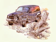 1991-1997 Mitsubishi Pajero Metal Top - Illustration unattributed