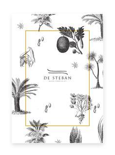 Black and White Illustration Design - De Steban - Delicatessen (WIP) by Antoine Pilette, via Behance Dm Poster, Poster Design, Poster Layout, Graphic Design Layouts, Print Layout, Graphic Design Posters, Web Design, Graphic Design Illustration, Graphic Design Inspiration