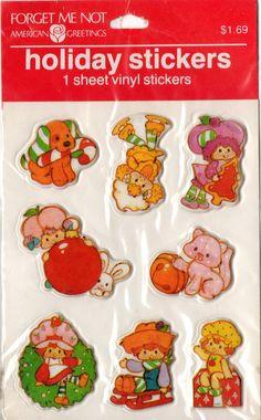 omgstrawberryshortcake:    vintage Shortcake holiday puffy stickers (by starberryshyne)