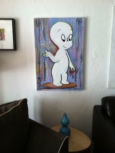 Pop painting of Casper The Friendly Ghost by by MelissaBollenart, $140.00