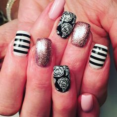 "0 Likes, 2 Comments - Becky Bunnell So Gel Educator (@nailedbybeckyb13) on Instagram: ""So love these!! SO SIMPLE hard gel. SO GEL striping tape, and Tuxedo black.  #sogelnails…"""