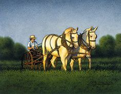 Amish Plowboy, by Eric Dowdle Amish Collection Dowdle Folk Art