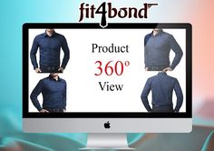 Online Custom Tailoring Software built on 360 Degree Display Tool  -A three dimensional object continually rotates around an imagined line referred to as a rotation axis. We accomplish this thought with our on-line tailoring platform