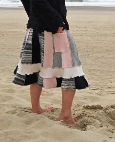 Upcycled Sweater Skirt Long Women's Soft Wool Angora by MyOlyGirl