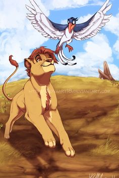 The BG was fun ^^ Tis Mufasa and Zazu Forever Pals Lion King 3, Lion King Fan Art, Lion King Movie, Disney Lion King, Lion King Images, Lion King Pictures, Big Cats Art, Cat Art, The Lion King Characters